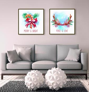 Christmas Decor Set of 2