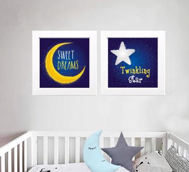 Star Moon Set of 2